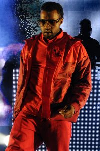Kanye West performing live at the Power 106FM Cali Christmas Holiday Concert at the Gibson Amphitheatre in Universal City CA on December 9 2008.